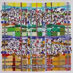 Obra de Kika Marciano expressa o diálogo colorido entre arte e arquitetura (Foto Divulgação)