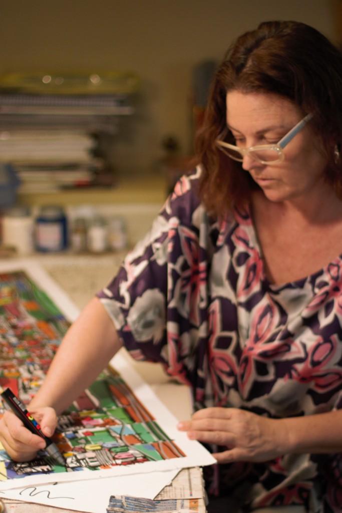 Kika Marciano é arquiteta e artista plástica (Foto Divulgação)