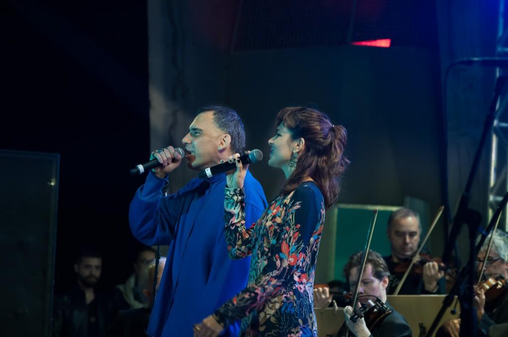 Arnaldo Antunes e Mariana Aydar, talentos da MPB (Foto Martinho Caires)