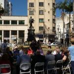 Representantes de entidades culturais no evento que lembra os 180 anos do nascimento de Carlos Gomes (Foto José Pedro Martins)