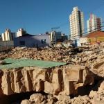 Casarão onde funcionava hotel foi demolido neste final de semana (Foto José Pedro Martins)