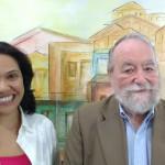 Geisa Fernandes e John Lent, da Associação Internacional para a Pesquisa de Mídia e Comunicação (Foto José Pedro Martins)