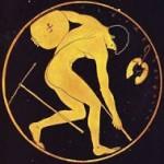 Imagem de atleta nas Olimpíadas da Grécia Antiga (Reprodução)