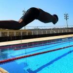Foto de Carlos Bassan do nadador Tiago Oliveira, de 15 anos, que tem planos de participar das próximas Paralimpíadas