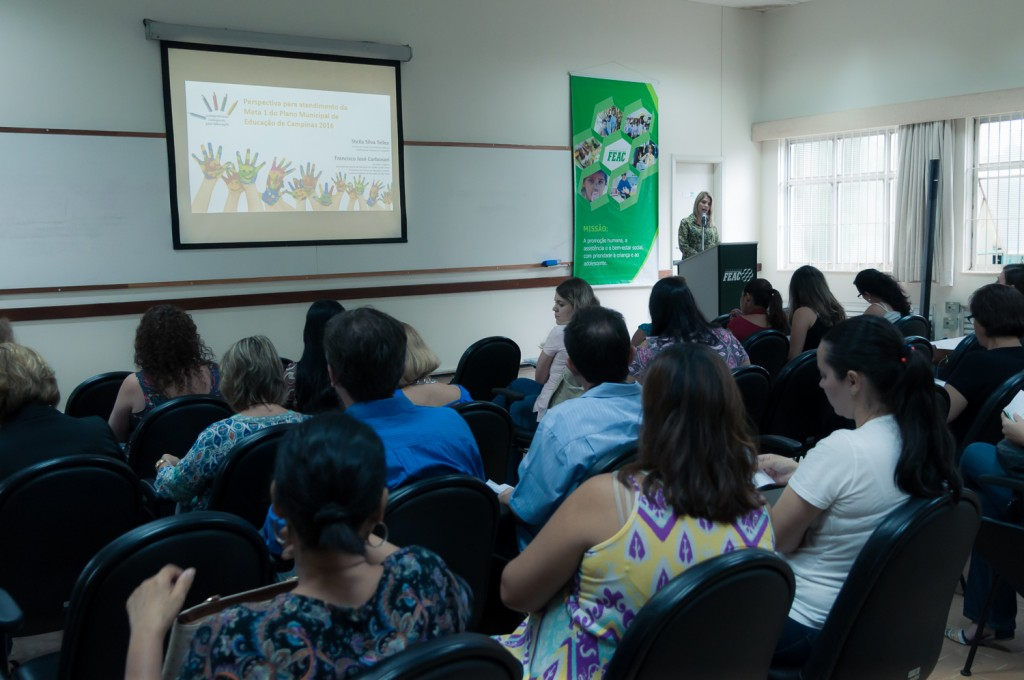 Gestores, docentes e outros profissionais em Educação Infantil participaram do evento (Foto Martinho Caires)