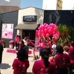 No sábado, primeiro dia do mês, uma revoada de 300 balões, cada um com uma semente de ipê rosa, marcou o início do Outubro Rosa    Foto: Divulgação