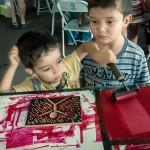 As crianças puderam exercitar a sua criatividade em múltiplas oficinas (Foto Martinho Caires)