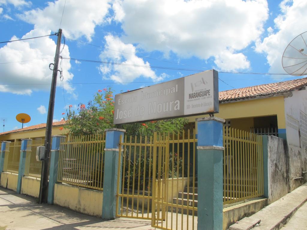 "Escola Municipal ""José de Moura"", beneficiada por apoio da iniciativa social privada (Foto Adriano Rosa)"