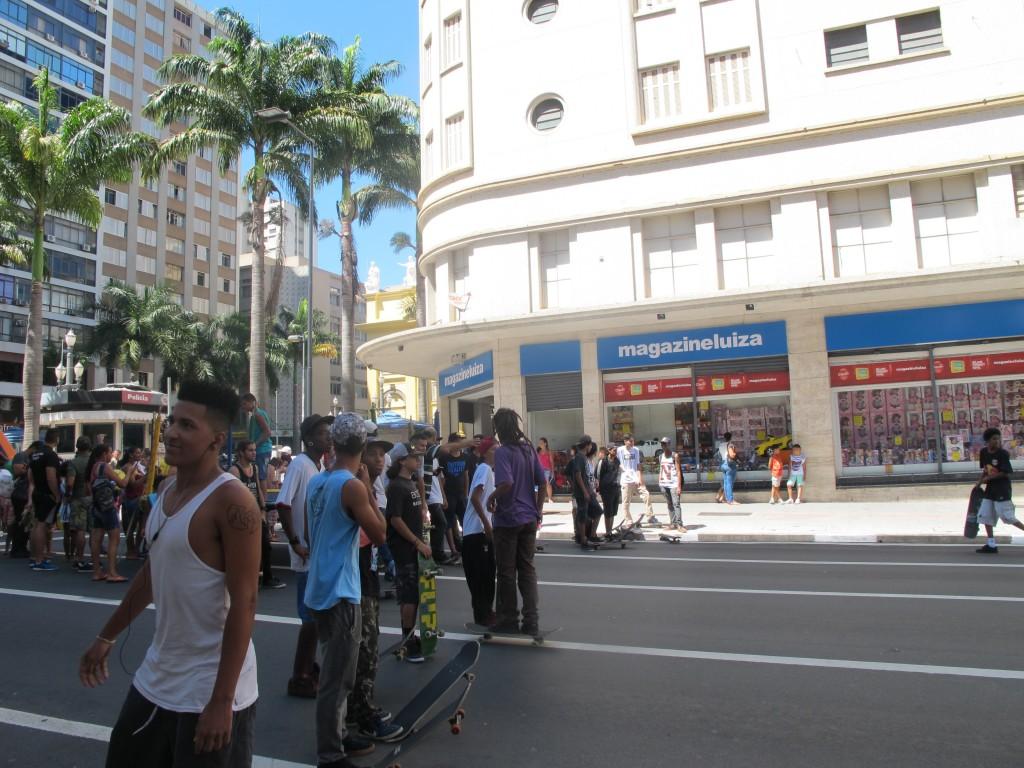 Skatistas compareceram em bom número (Foto José Pedro Martins)