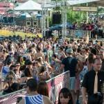 """City Banda pela primeira vez na praça Arautos da Paz, em 2017: """"Woodstock de Momo"""" (Foto Martinho Caires)"""