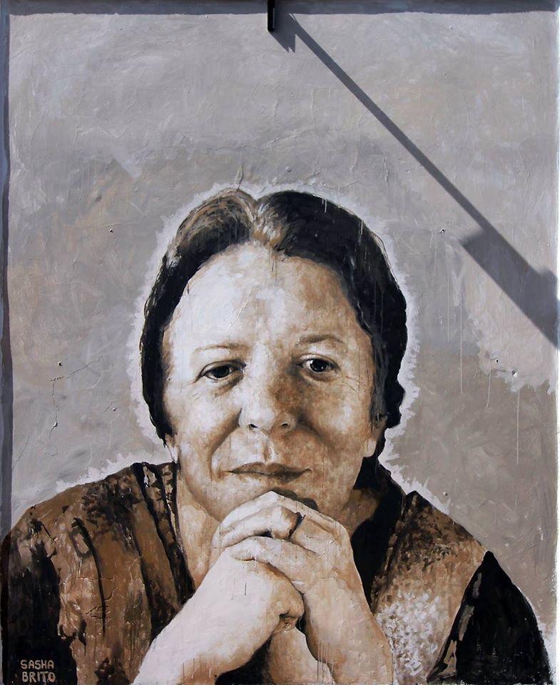 Hilda Hilst, no retrato de Sasha Brito