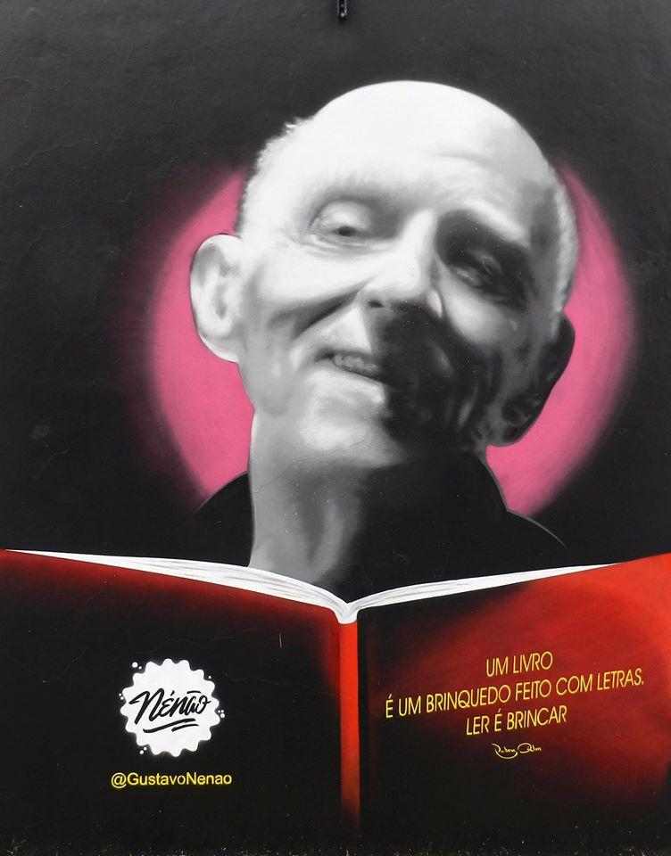 Rubem Alves, no retrato de Gustavo Nenão