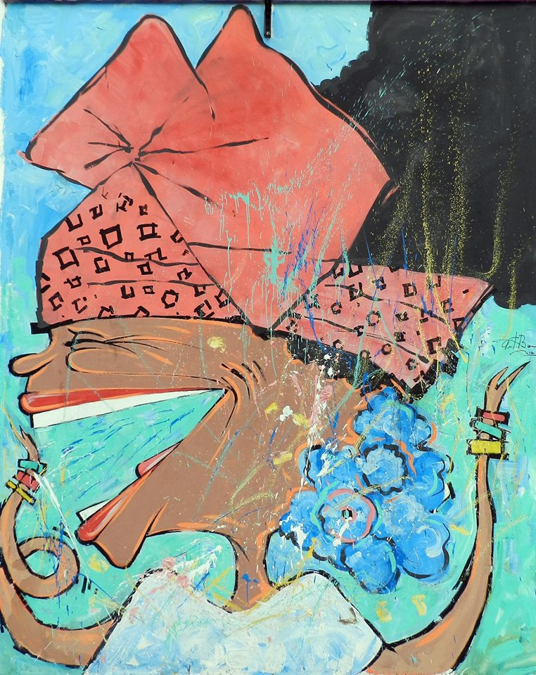 Sinhá Rosária, na caricatura de Paulo Branco