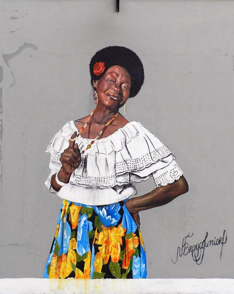 Sinhá Rosária, no retrato de Nelson Braga Júnior