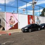 O mural produzido por artistas campineiros sobre grandes nomes da cultura local (Foto Divulgação)