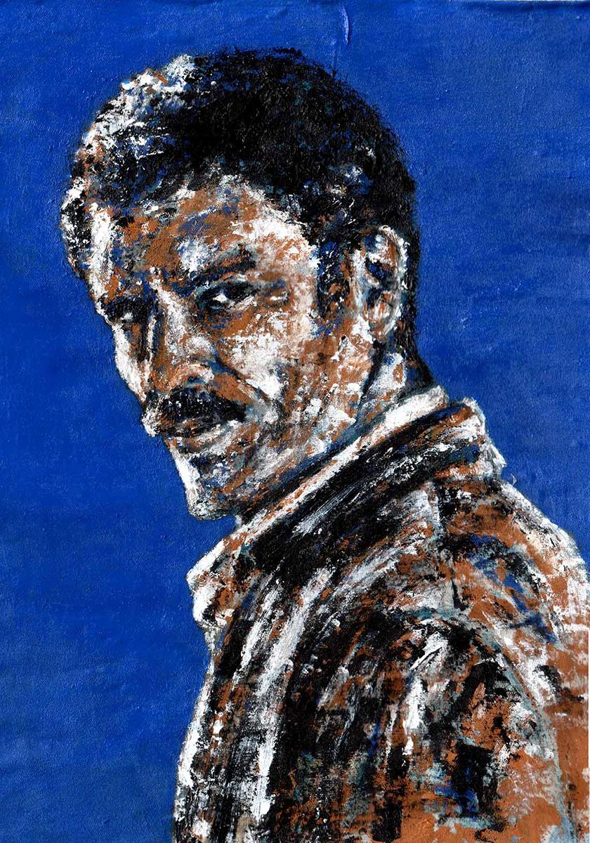 Sergio Campelo_07 Retrato sobre fundo azul nº01_1200