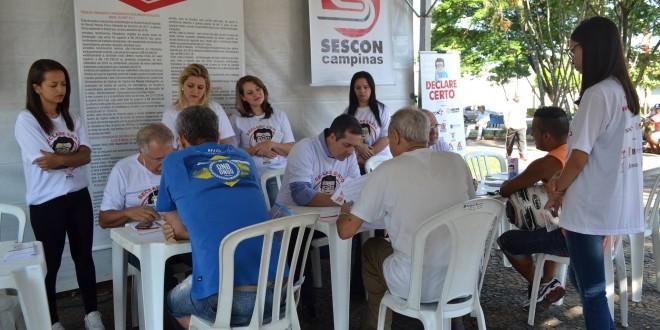 Ação cidadã: Contabilistas tiram dúvidas do IR gratuitamente hoje em Campinas