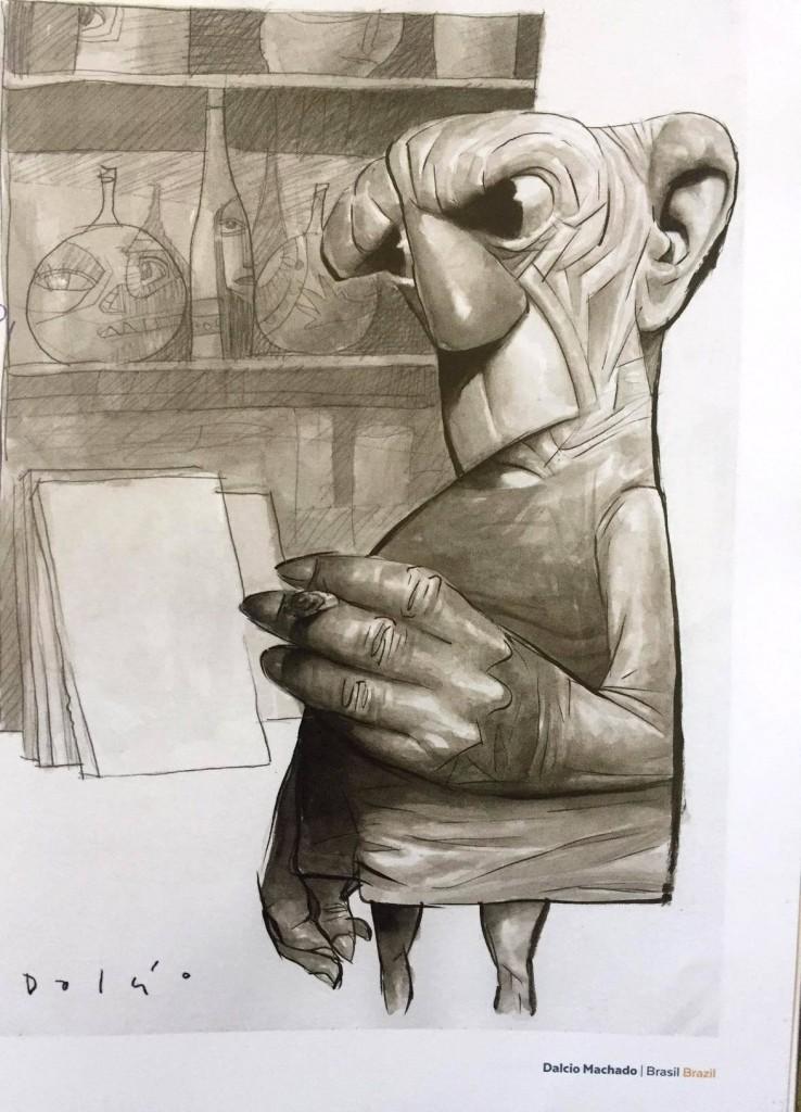 O Picasso de Dálcio Machado,  grande prêmio de caricatura de 2017