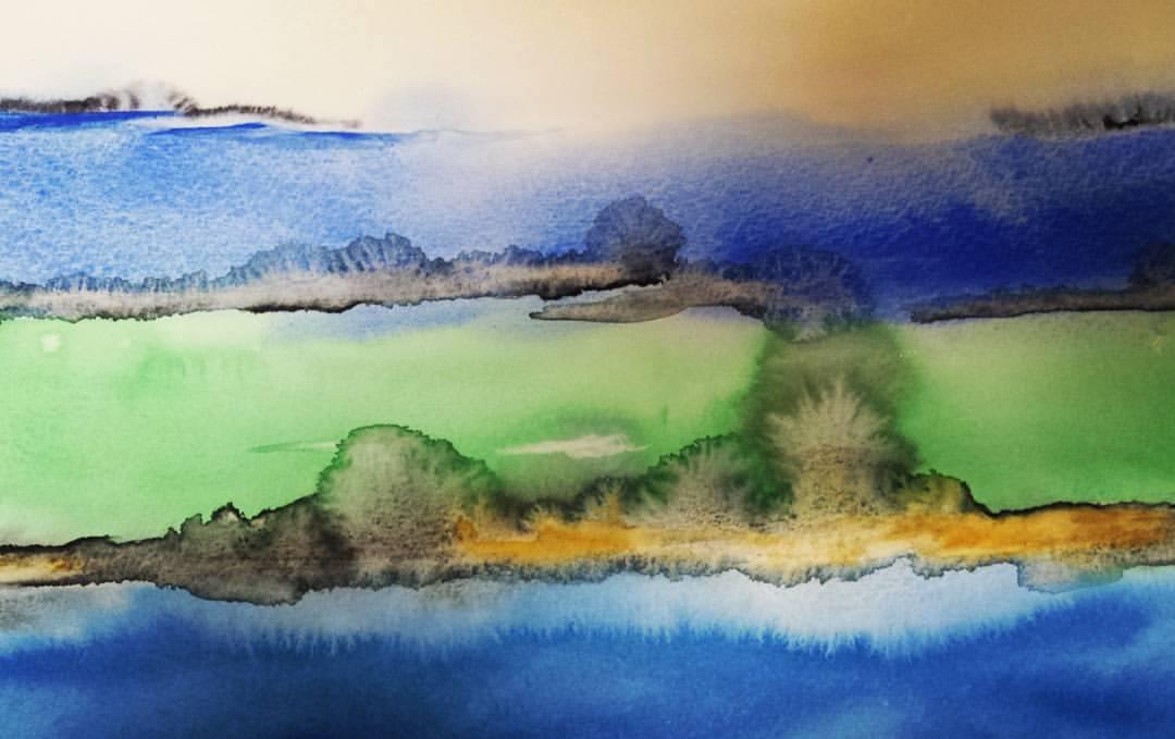 Outra obra de Nale na exposição na Livraria Pontes: prazer para os sentidos