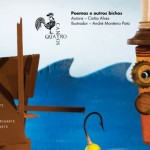 """Detalhe de página interna de """"Poemas e outros bichos"""", de Cíntia Alves, com ilustração de André Monteiro Pato"""