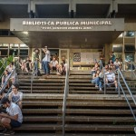 Biblioteca recebeu Feira SUB de 2017 no dia em que completava 71 anos (Foto Martinho Caires)