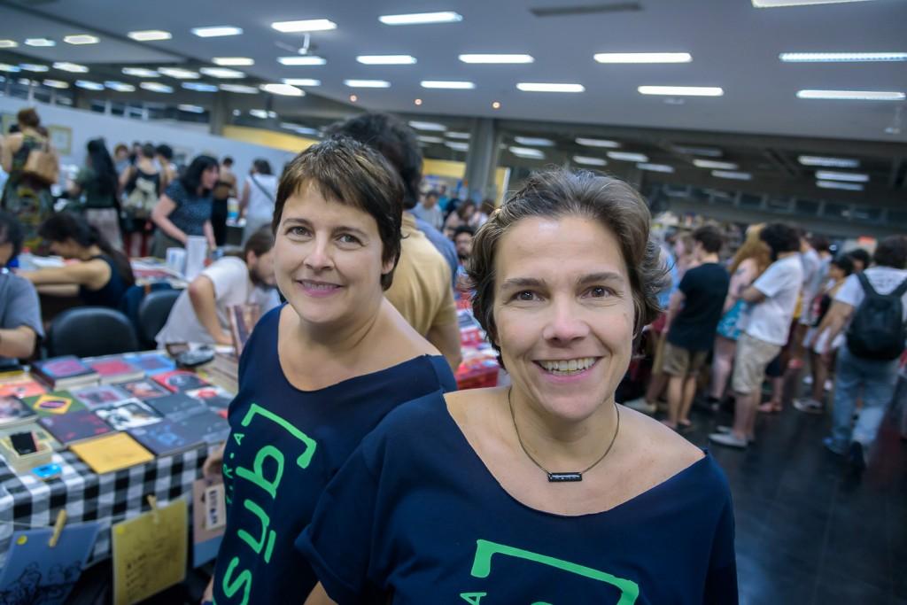 Marcela e Fabiana Pacola, idealizadoras e organizadoras da Feira SUB (Foto Martinho Caires)
