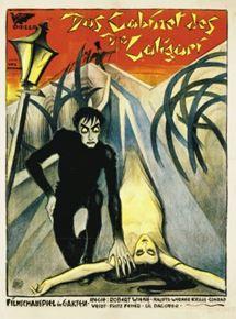 Cartaz de Gabinete do Dr.Caligari, um dos clássicos do Expressionismo Alemão