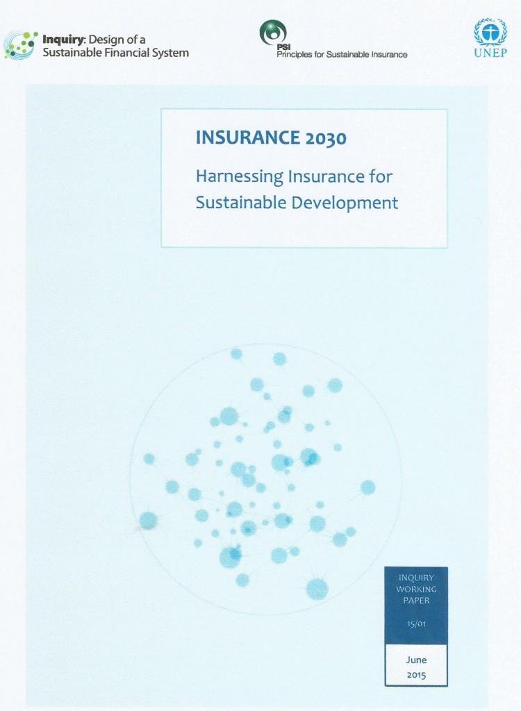 Capa de um dos estudos já produzidos no âmbito dos PSI-UNEP FI