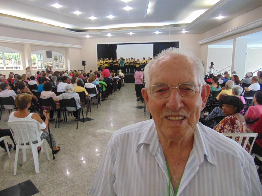 Natalino Jesus Borges, 82 anos: outra vida depois de se integrar à iniciativa da Unimed Campinas (Foto José Pedro S.Martins)