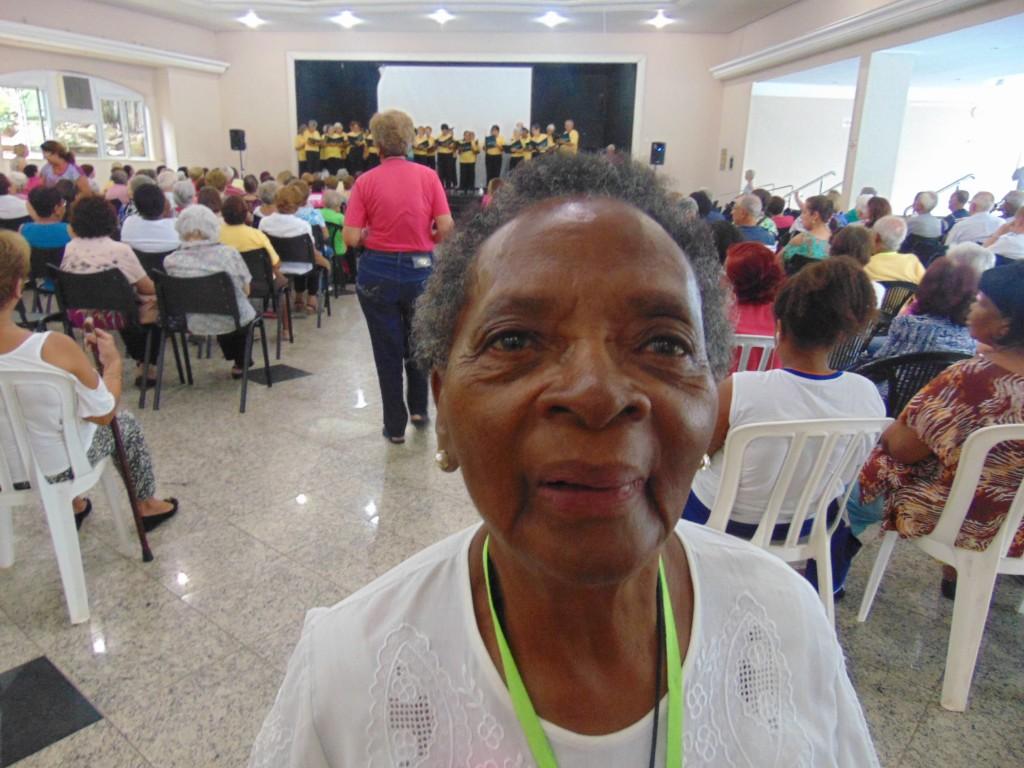 Geralda Diogo, 95 anos. em atividade no Programa Saúde Toda Vida da Unimed Campinas (Foto José Pedro S.Martins)