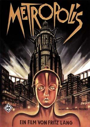 """Cartaz de """"Metrópolis"""", de Fritz Lang, outra obra prima do expressionismo alemão"""