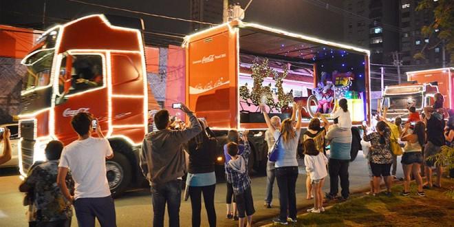 Caravana Iluminada de Natal nas ruas de Campinas dia 29 de novembro