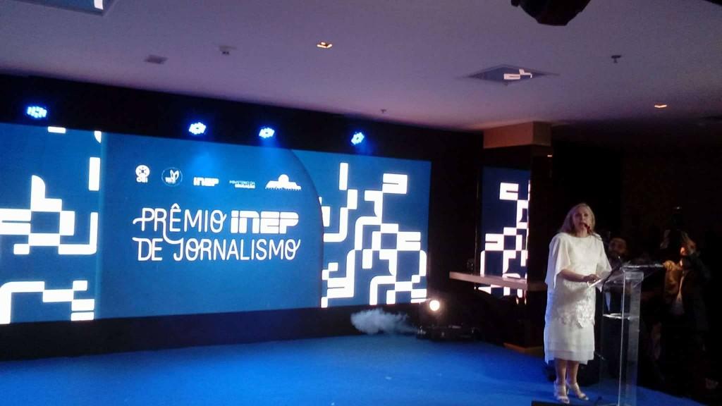 Presidente do Inep, Maria Inês Fini, lançou a edição de 2018 do Prêmio