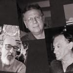 Os cinco amigos artistas, em ilustração composta por Martinho Caires