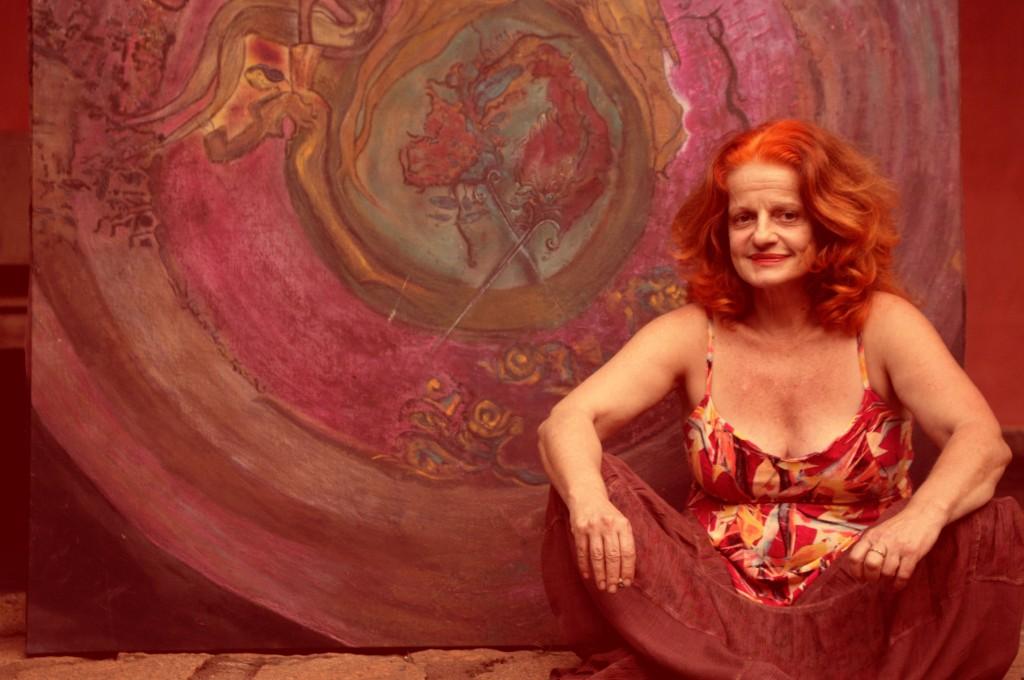 Aa artista plástica Olga Bilenky (Foto Sabrina Sanfelice)