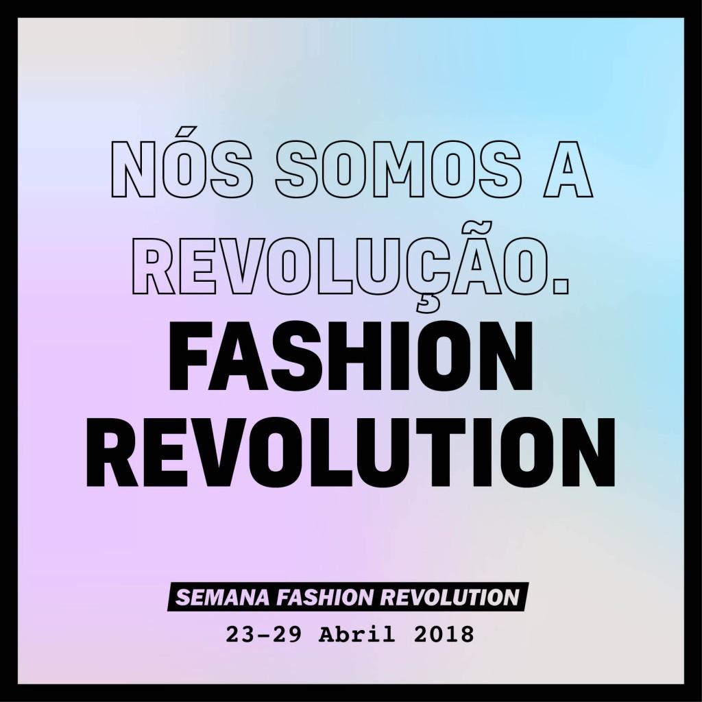Peça da campanha de Fashion Revolution para 2018