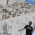O jornalista Eduardo Gregori em Lisboa (Foto Arquivo Pessoal)