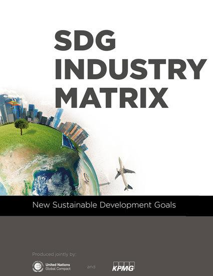 Matrix Industrial dos ODS, elaborada pelo Pacto Global da ONU e KPMG