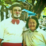 2010: Eu palhaço. Fazendo rua em Campinas, no Centro de Convivência, entre as idas e vindas do circo. foto arquivo pessoal
