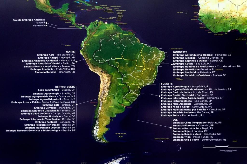 Rede de unidades da Embrapa: a Territorial está localizada em Campinas