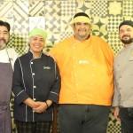 Chefs que se uniram no projeto que alia gastronomia e ação social (Foto Divulgação)