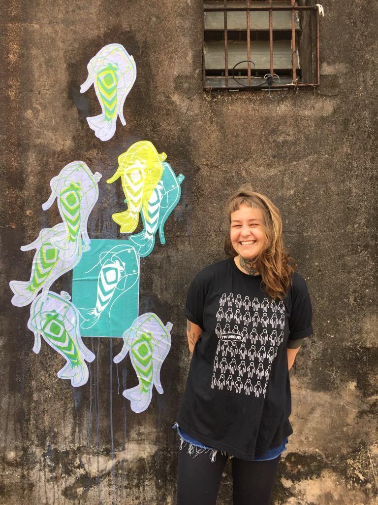 Frësz: o grafiti é uma estética familiar para quem cresceu na Vila Madalena (Foto Marcela Pacola)