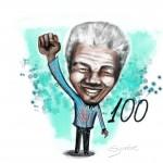 Mandela, 100 anos, por Synnöve Hilkner