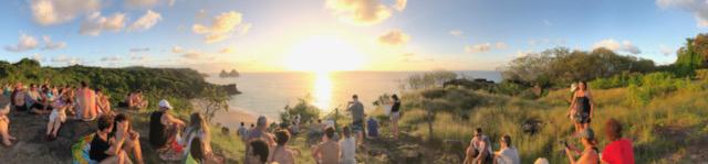 Pôr do Sol no mirante da praia do Boldró (Foto Synnöve Hilkner)