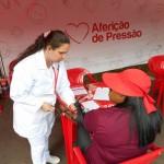 Aferição de pressão é um dos serviços da Praça da Cidadania (Foto Divulgação)