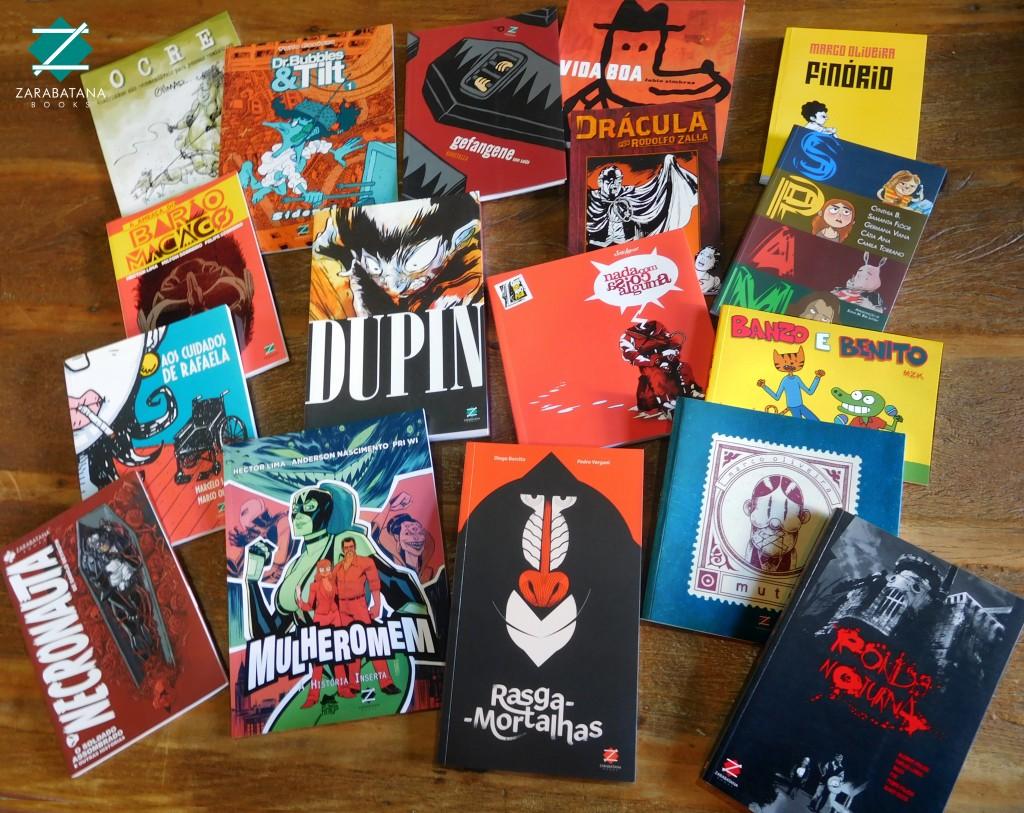 Produtos da Zarabatana Books (Foto Divulgação)