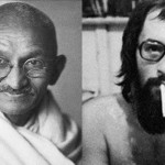 Mahatma Gandhi / Paulo Leminski (Montagem / Foto Divulgação)