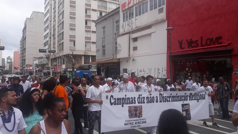 Marcha Zumbi em Campinas, em 2017 (crédito: arquivo pessoal Ilcéi Miriam)