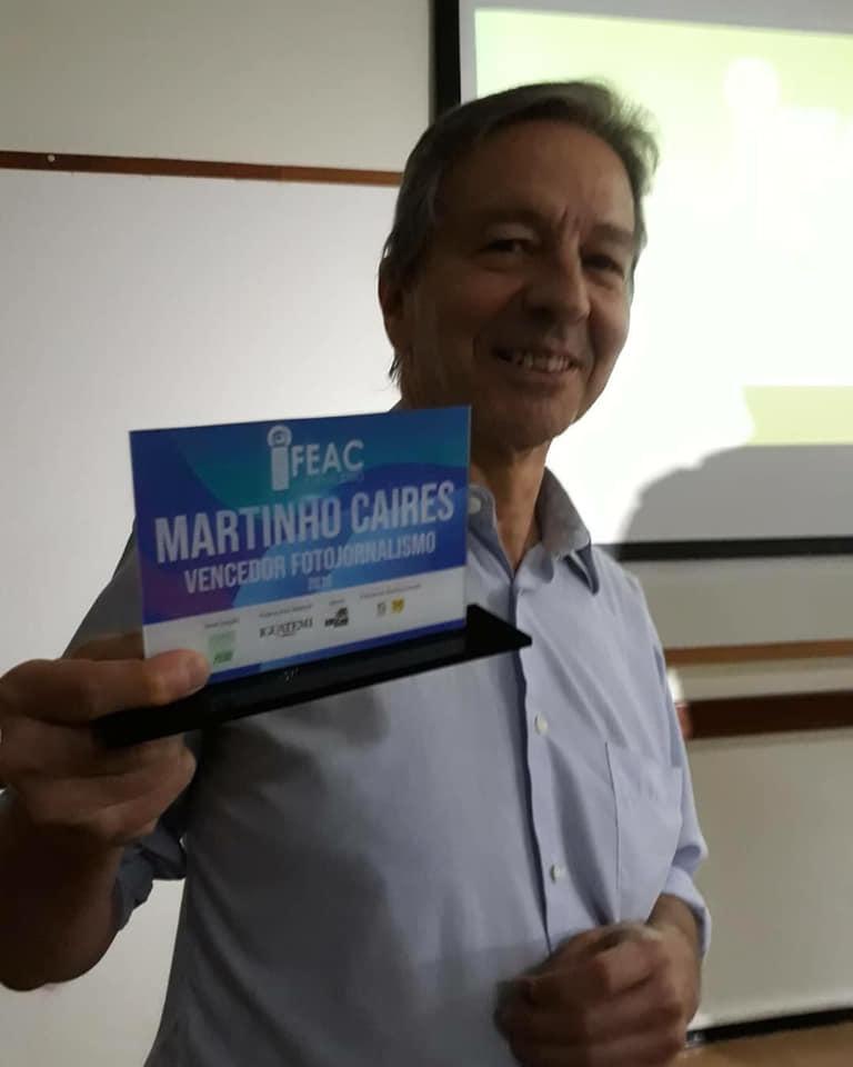Martinho Caires, vencedor do Prêmio Fundação FEAC de Jornalismo de 2018, categoria Fotojornalismo (Foto ASN)