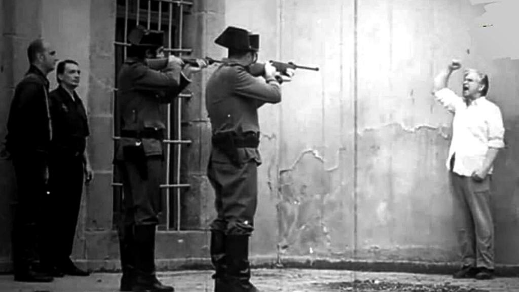 """Suposta cena do fuzilamento de Frederico Garcia Lorca / Trecho de """"Lágrimas de Rabia"""", clipe de Boikot, banda espanhola (esta imagem não precisa ser encoberta, por ser fictícia)"""